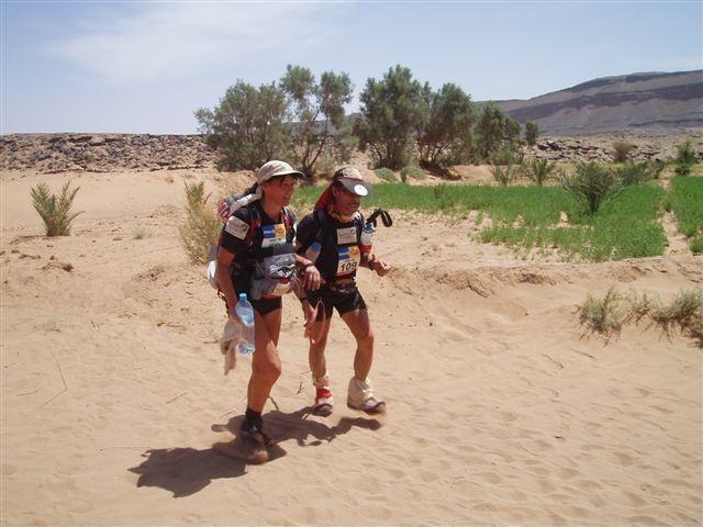 Marathon des sables non voyant