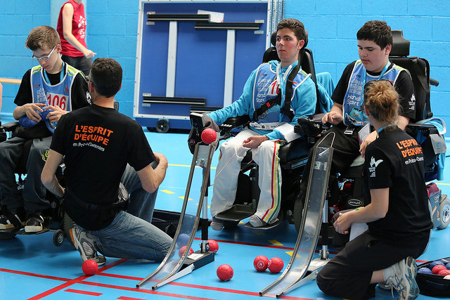 Boccia competition jeunes